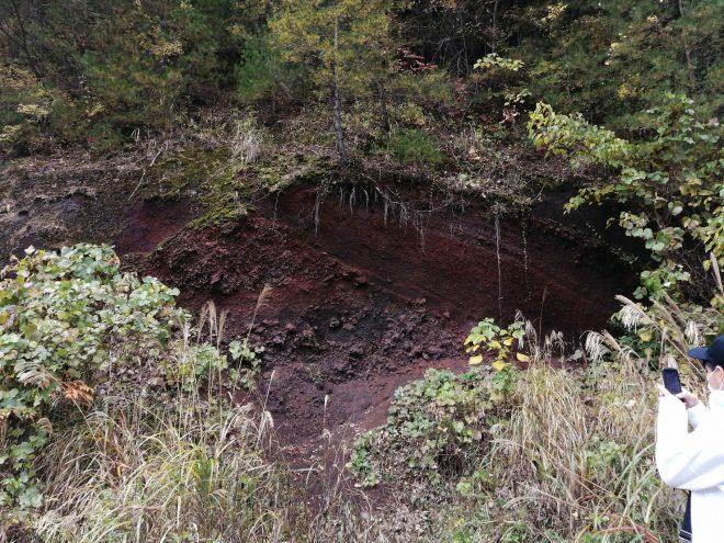 火山の土台
